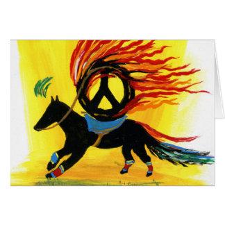 Tarjeta - la O.N.U Caballo De La Paz - Feliz