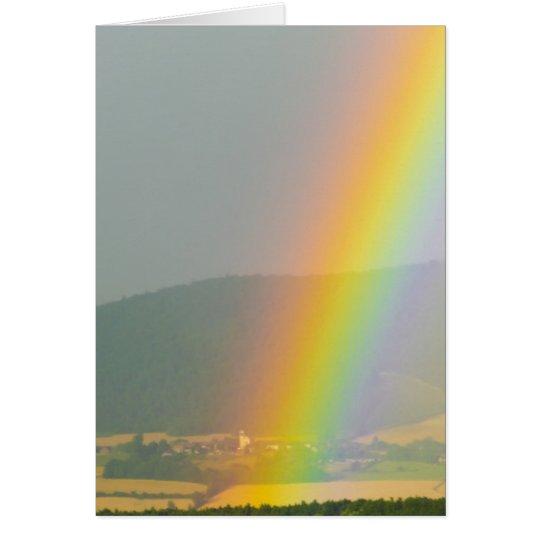 Tarjeta La oficina de los cielos del arco iris personaliza