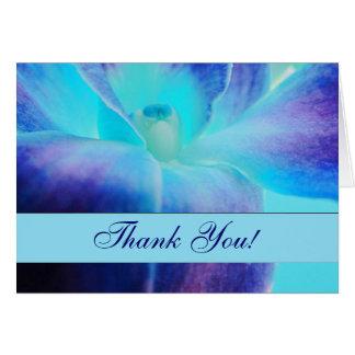Tarjeta La orquídea azul le agradece Notecard