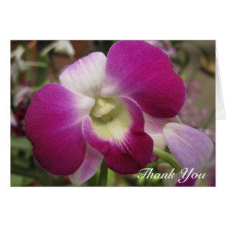 Tarjeta La orquídea púrpura del Dendrobium le agradece