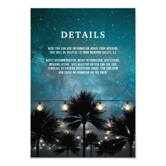 Tarjeta La palmera tropical de la playa enciende los