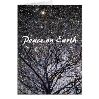Tarjeta La paz en la naturaleza de la tierra protagoniza
