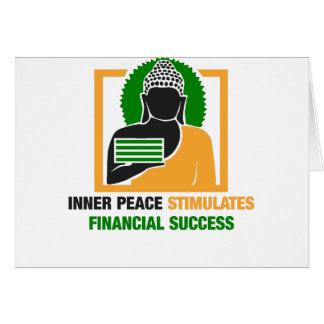 Tarjeta La paz interna estimula éxito financiero