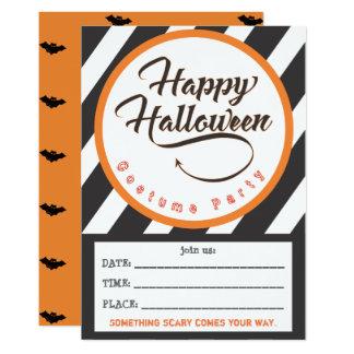 Tarjeta La pieza del feliz Halloween invita - a tema de
