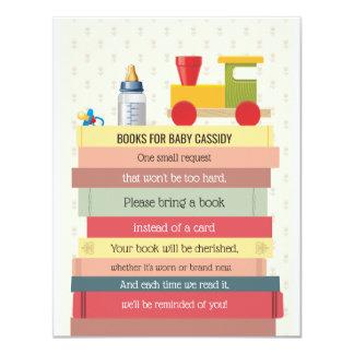 Tarjeta La pila de libro trae una fiesta de bienvenida al