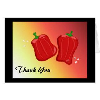 Tarjeta La pimienta roja le agradece