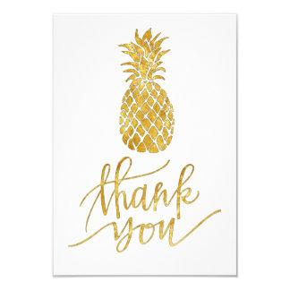 Tarjeta la piña de oro tropical le agradece