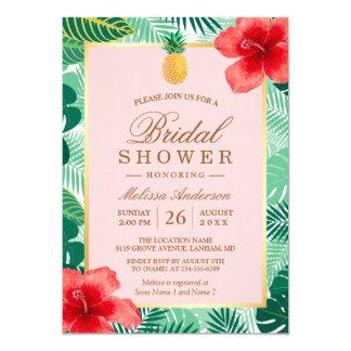 Tarjeta La piña nupcial tropical de la ducha el | se