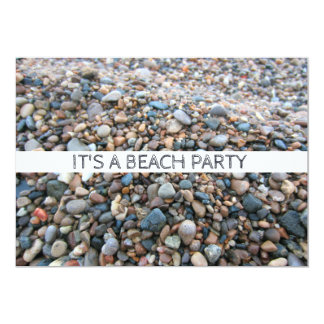 Tarjeta La playa del lago Michigan oscila los guijarros