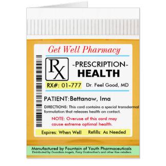 Tarjeta La prescripción de RX para la salud consigue la