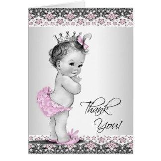 Tarjeta La princesa rosada fiesta de bienvenida al bebé
