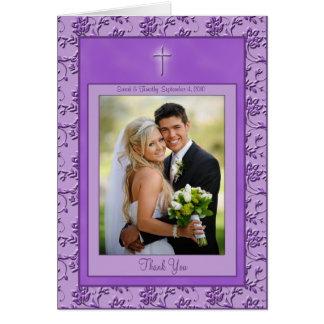 Tarjeta La púrpura cristiana le agradece cardar con la