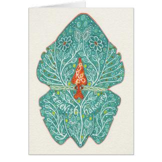 Tarjeta La rana llena notecard de la armonía