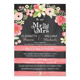 Tarjeta La recepción nupcial floral romántica del poste