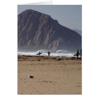 Tarjeta La roca de Morro vara a personas que practica surf