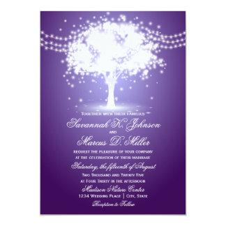 Tarjeta La secuencia púrpura del árbol enciende