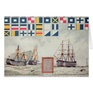 Tarjeta La señal de Nelson en Trafalgar