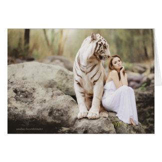 Tarjeta La señora y el tigre  --