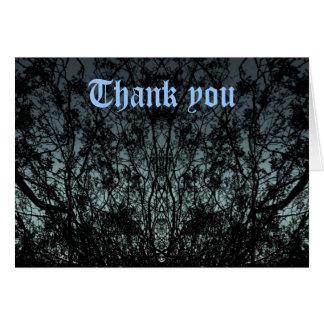 Tarjeta La silueta de la naturaleza gótica le agradece
