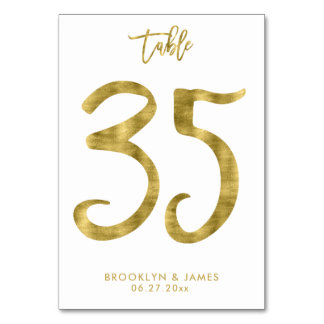 Tarjeta La tabla del boda numera el efecto número 35 del