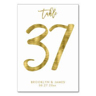 Tarjeta La tabla del boda numera el efecto número 37 del