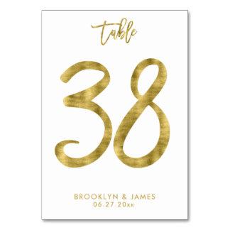 Tarjeta La tabla del boda numera el efecto número 38 del