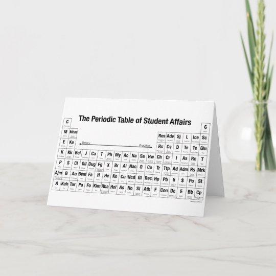 Tarjeta la tabla peridica de asuntos de estudiante zazzle tarjeta la tabla peridica de asuntos de estudiante urtaz Image collections