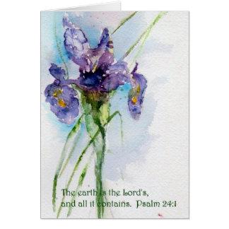 Tarjeta La tierra es el 24:1 de Psalm   del señor