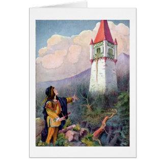 Tarjeta La torre de Rapunzel (espacio en blanco dentro)