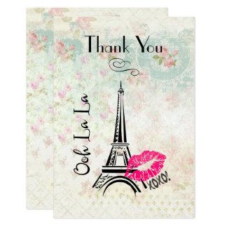 Tarjeta La torre Eiffel de París del La del La de Ooh le