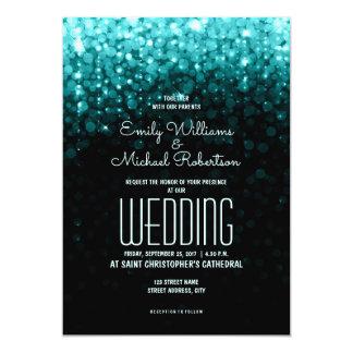 Tarjeta La turquesa elegante del boda enciende el fondo