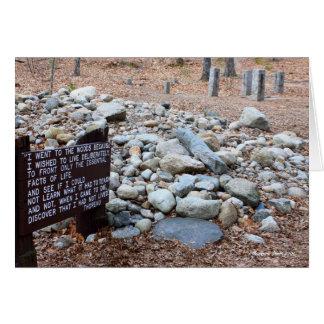 Tarjeta la ubicación de los *Thoreau de la fundación de la