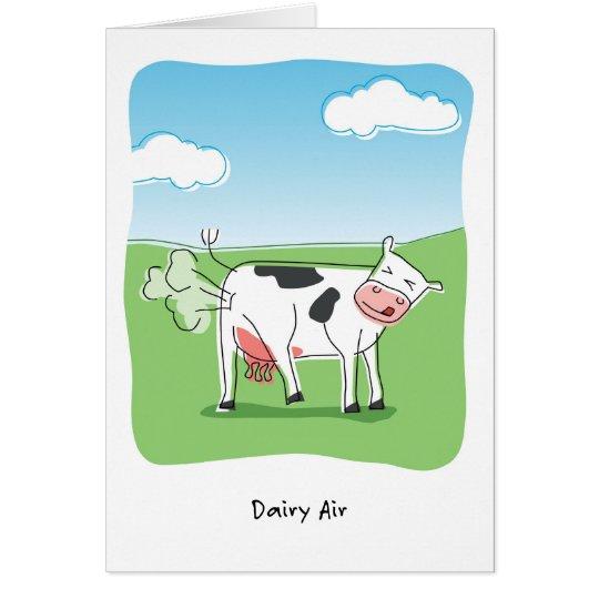 Tarjeta La vaca del aire de la lechería Fart cumpleaños