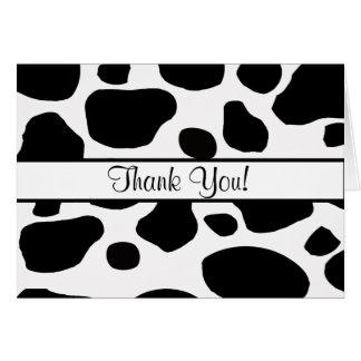 Tarjeta La vaca mancha toda la ocasión le agradece