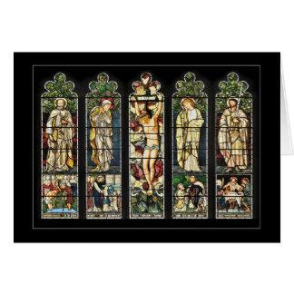 Tarjeta La ventana del este, iglesia de Troutbeck, Cumbria
