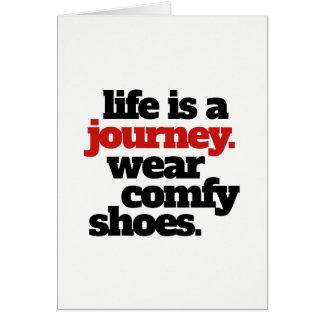 Tarjeta La vida divertida es un viaje…