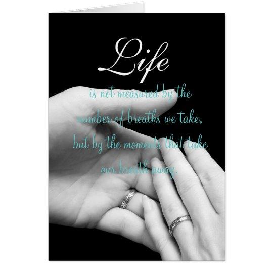 Tarjeta La vida no se mide….