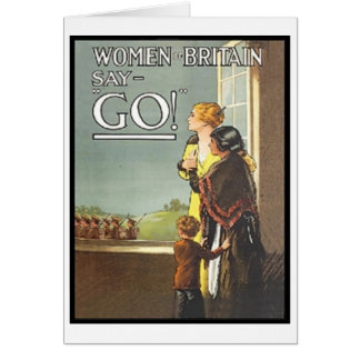 Tarjeta La vintage mujer de Gran Bretaña dice va poster
