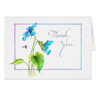 Tarjeta La violeta le agradece
