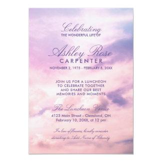 Tarjeta La violeta se nubla la celebración del monumento