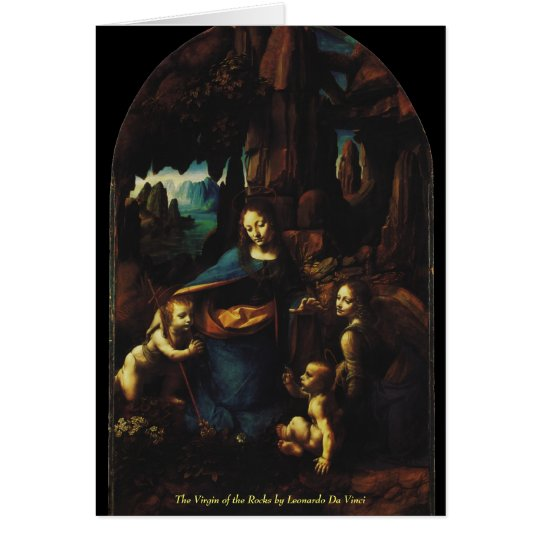 Tarjeta La Virgen de las rocas de Leonardo da Vinci