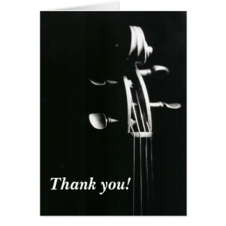 Tarjeta La voluta del violín le agradece cardar