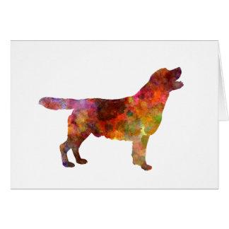 Tarjeta Labrador retriever 01 in watercolor 2