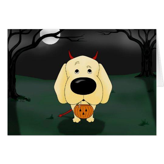 Tarjeta Labrador retriever Halloween