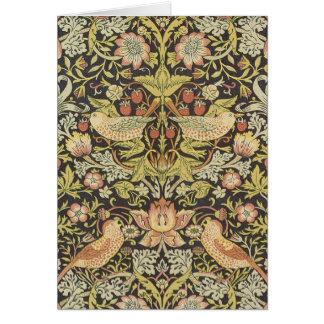 Tarjeta Ladrones de la fresa de William Morris