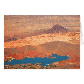 Tarjeta Lago azul, desierto rojo de Cynthia Wenslow
