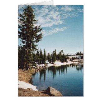 Tarjeta Lago esmeralda