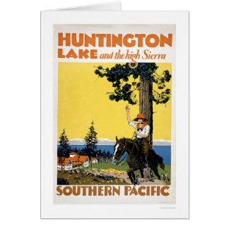 Tarjeta Lago huntington y las sierras