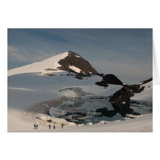 Tarjeta Lago superglacial de investigación Linda