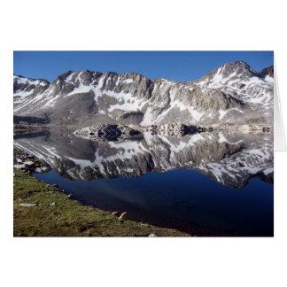 Tarjeta Lago Wanda, altas sierras, California